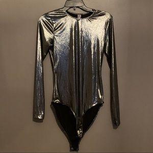 American Apparel Silver Bodysuit